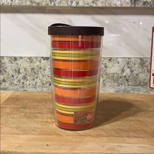 16 oz FIESTA TERVIS TUMBLER WITH LID.